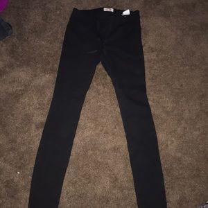 black stretchy jeggings